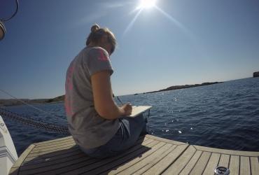 Schreiben am Segelboot Writers Retreat