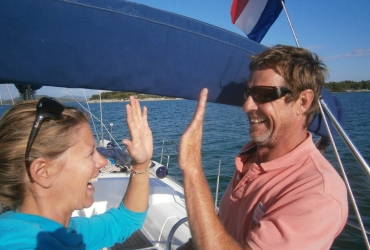 Segeltraining für Paare, Zweihandsegeln