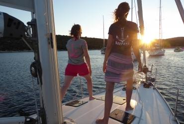 Yoga am Segelboot SeeFrauen Yoga Retreat